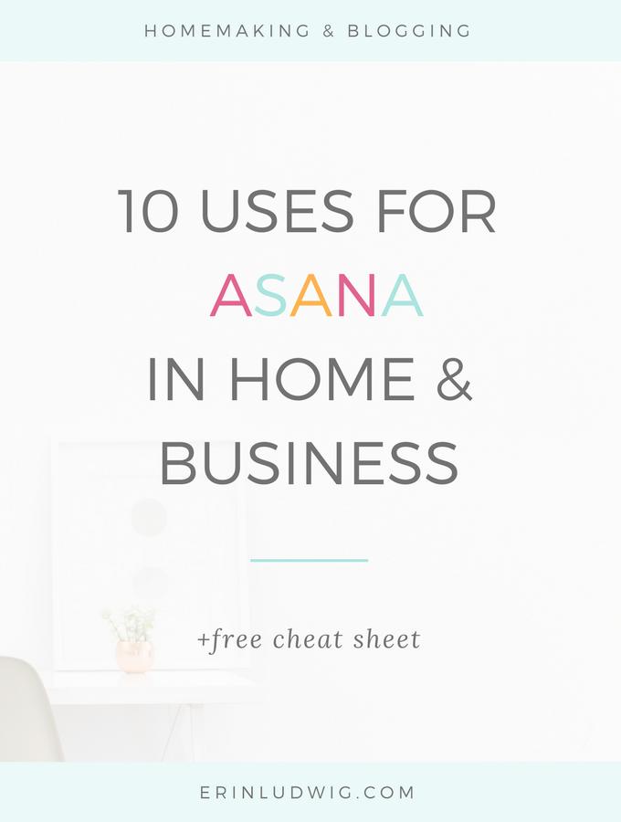 Asana | Productivity | Task Management | Mompreneur | Solopreneur | Online Business | Blogging | Homemaking | Family Chores | Family Calendar