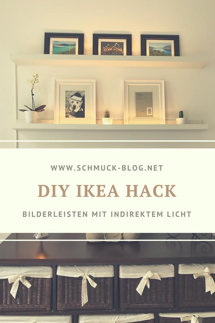 Ikea Hack Mosslanda Bilderleiste Mit Indirektem Licht Diy Bild