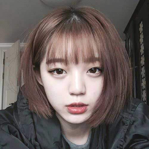Bangs On Bob Haircuts You Should See Bob Haircut And Hairstyle Ideas Shot Hair Styles Short Hair With Bangs Korean Short Hair