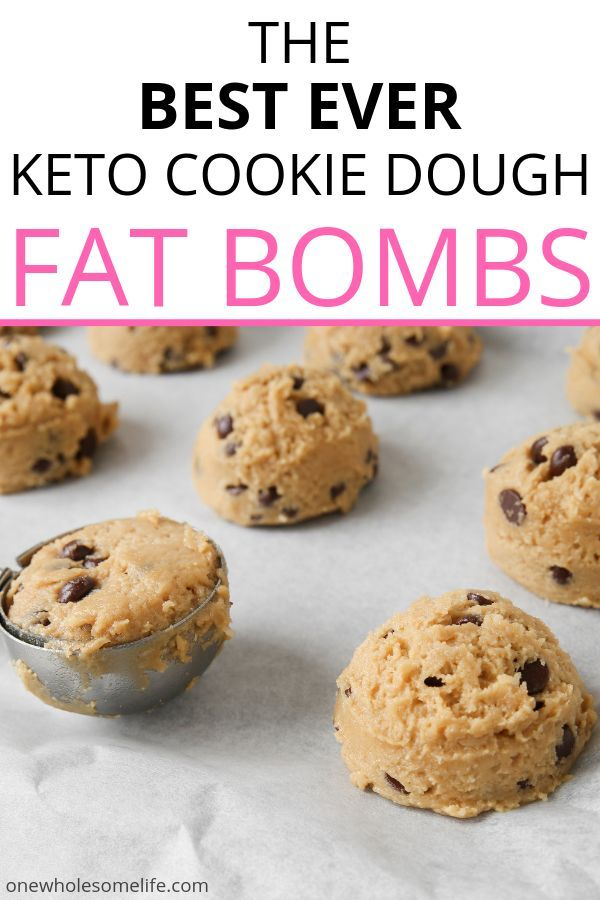 Chocolate Chip Cookie Dough Fat Bombs - One Wholesome Life