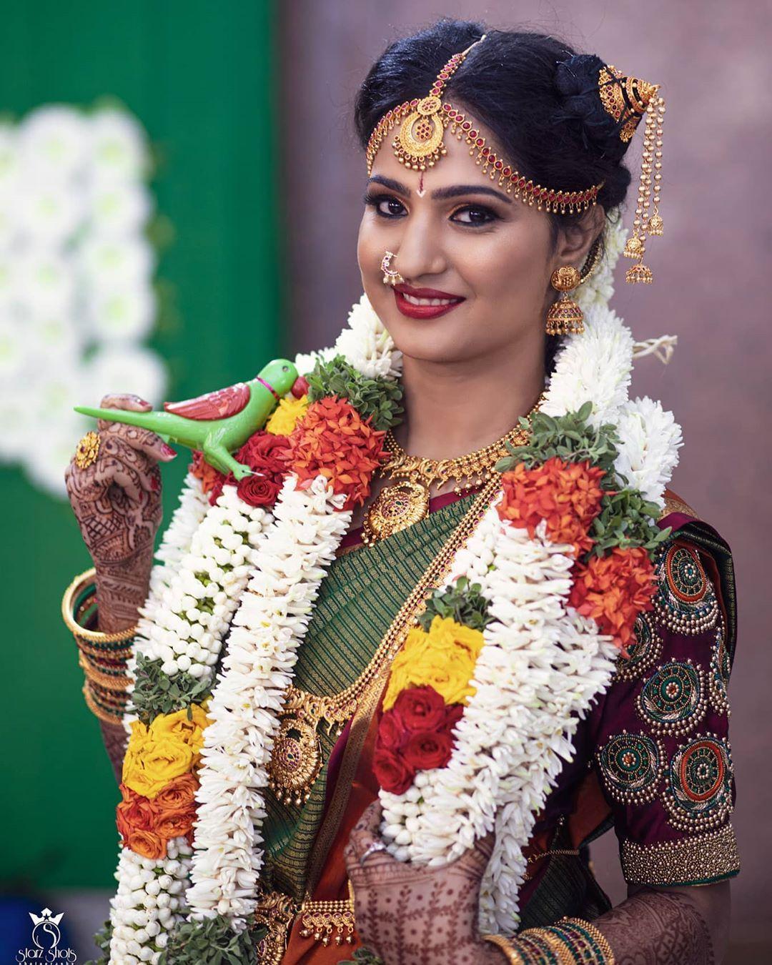 13 Andal Kondai ideas | traditional hairstyle, bridal bun, bridal hair