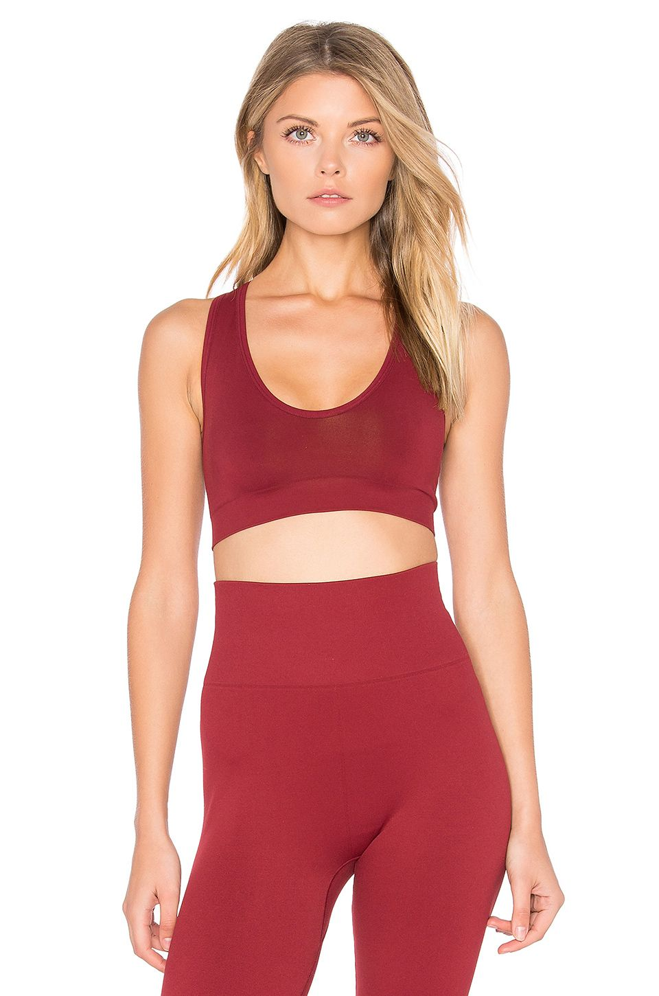 Touche LA Grace Sports Bra in Currant Red sports bra
