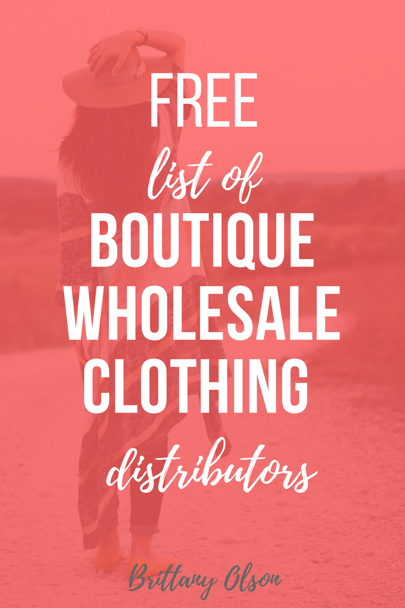 c0f0d17ca Find Wholesale Boutique Clothing 2018 - Free List