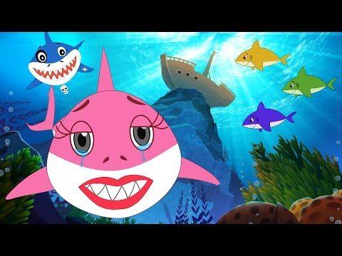 Five Little Sharks + Baby Shark song do do do | Nursery ...