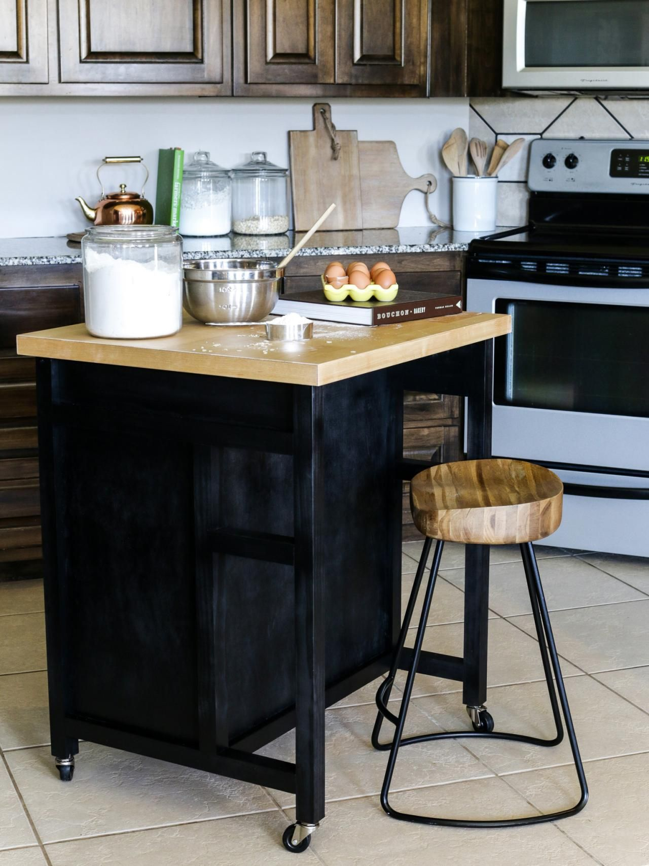 How to Build a DIY Kitchen Island on Wheels Kitchen
