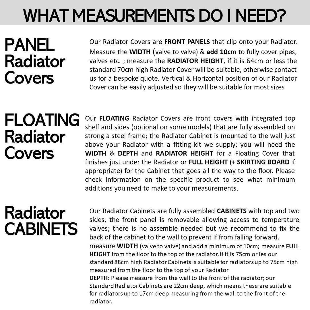 Modern Floating White Radiator Heater Cover NORDIC design