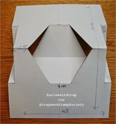 KarinsArtScrap: A new shape of card and a new challenge