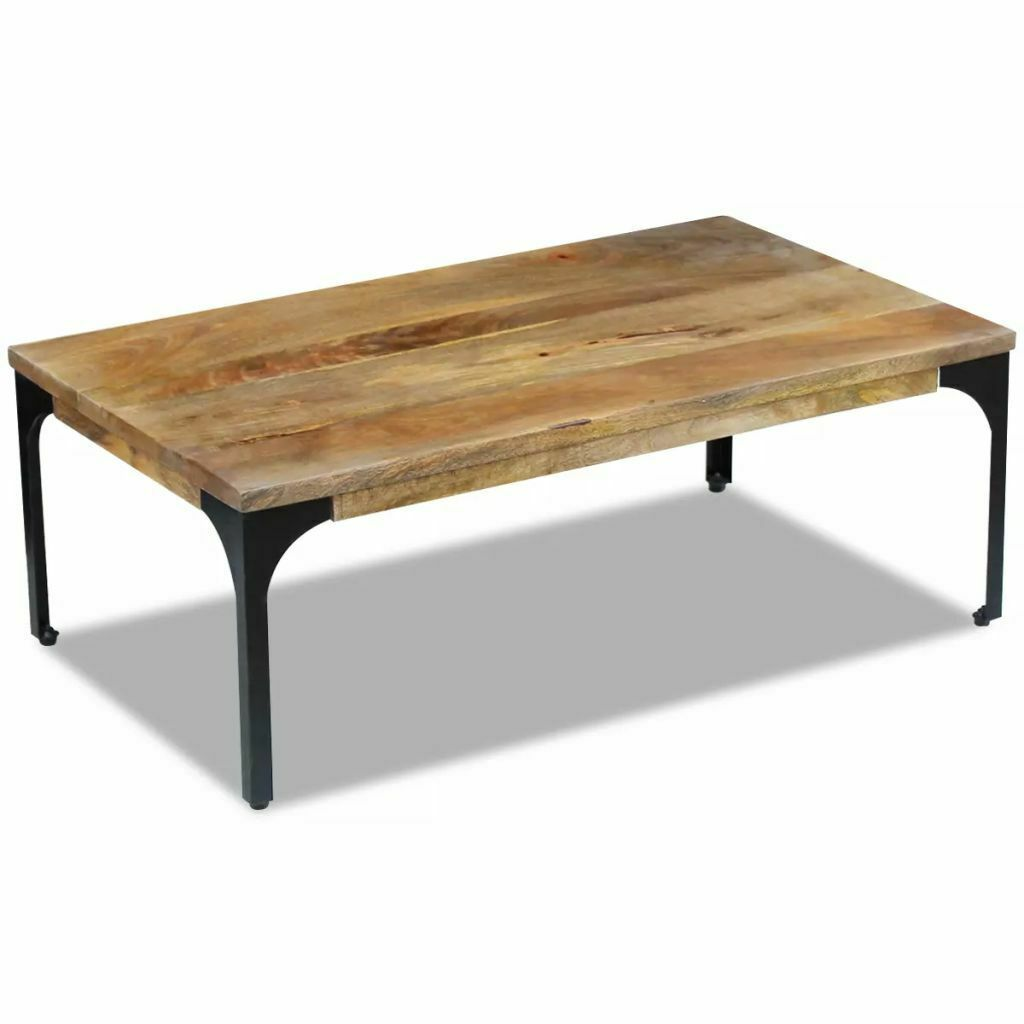 Table Basse Vidaxl Table Basse Salon Moderne 100x60x35 Cm En Bois De Mangue 100x60x35 Basse Bois C Coffee Table Coffee Table Steel Frame Coffee Table Wood
