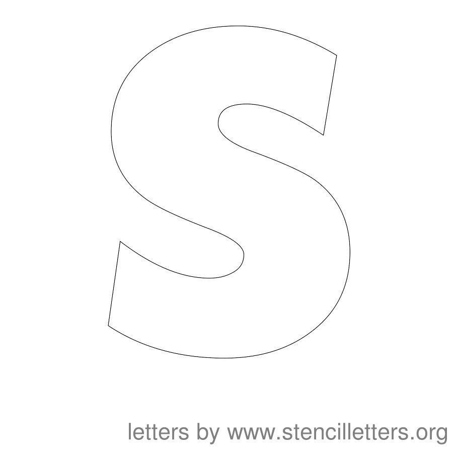12 inch stencil letter uppercase s | vbs 2017 | pinterest | letter