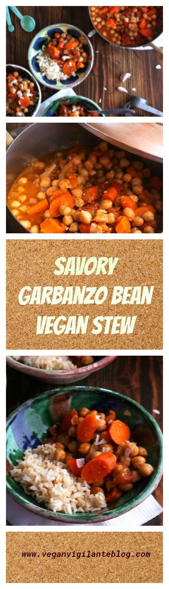 Savory Garbanzo Bean Vegan Stew