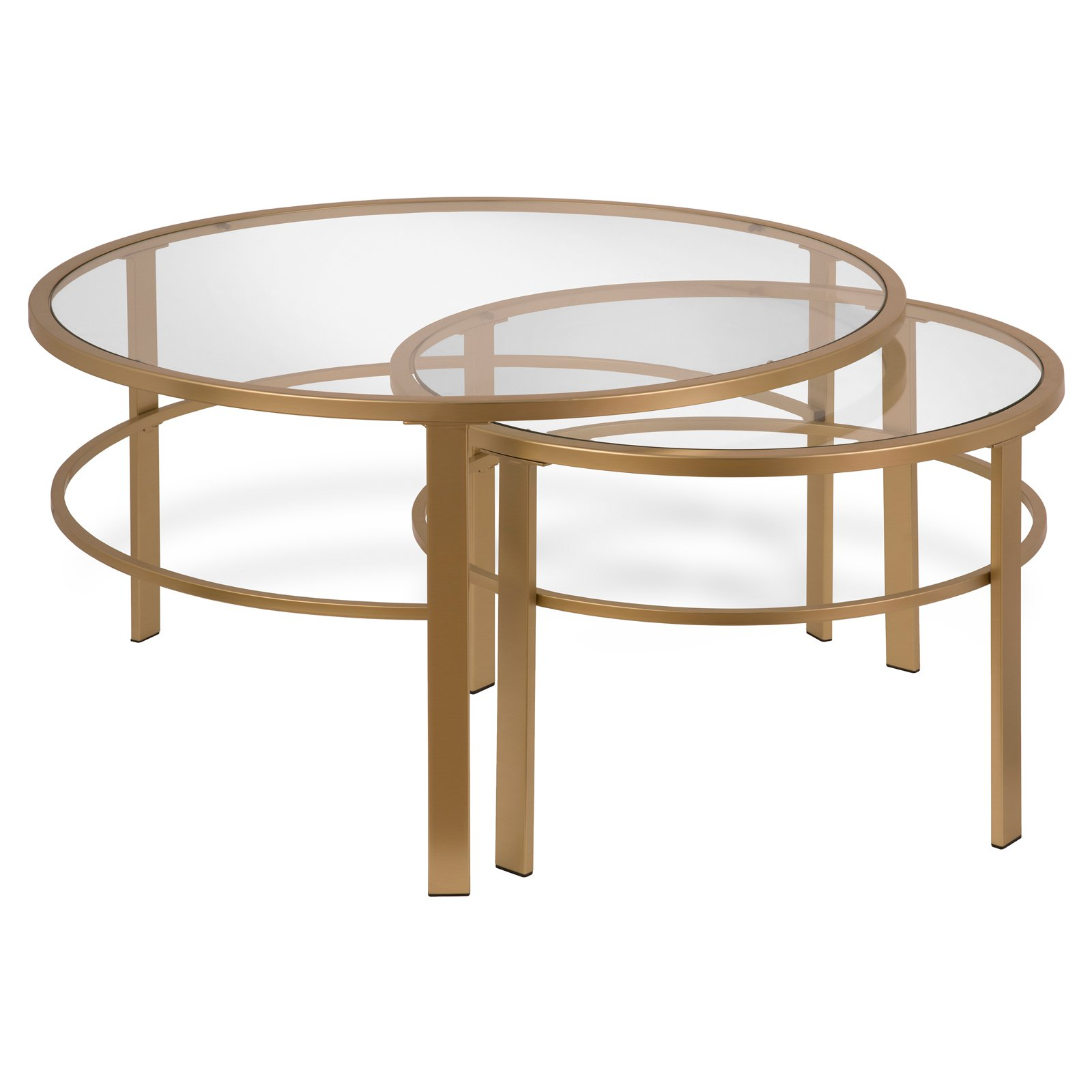 Best Hudson Canal Gaia Nesting Coffee Table Set Of 2 In 400 x 300