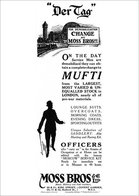 Poster Print Moss Bros Advertisement End Of Ww1 Demobilisation 16 X23 Poster Sized Print Made In The Usa In 2020 Poster Size Prints Online Printing Poster Prints