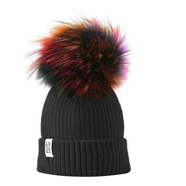 2 BLACK KNIT BEANIE SKI CAPS HAT HATS LONG CUFFED
