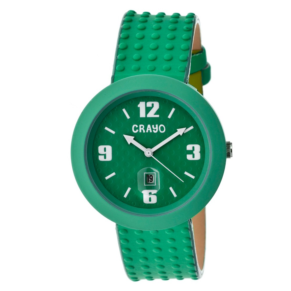 Women's Crayo Jazz Watch with Magnified Date Display-Teal, Green