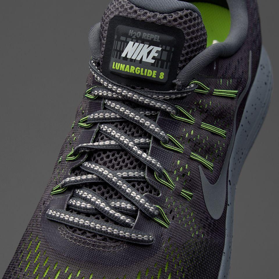 b820ac2e6c71 Nike Lunarglide 8 Shield - Dark Grey Metallic Silver-Black-Volt ...