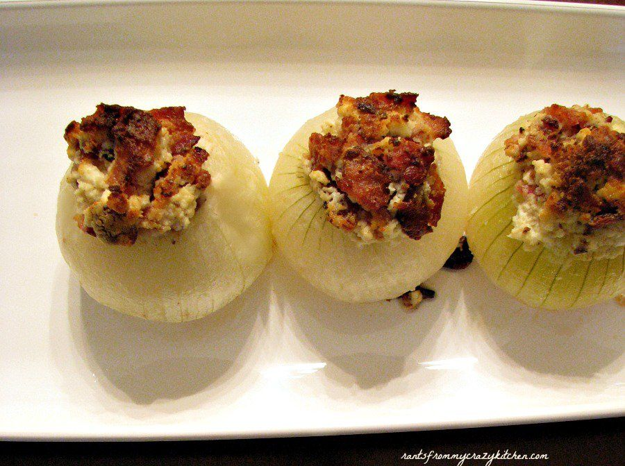Whole sweet onions stuffed with a simple filling of bacon, goat cheese and butter, these mild and salty onions make a great side dish or first course. If you love these and would like to see more: ...