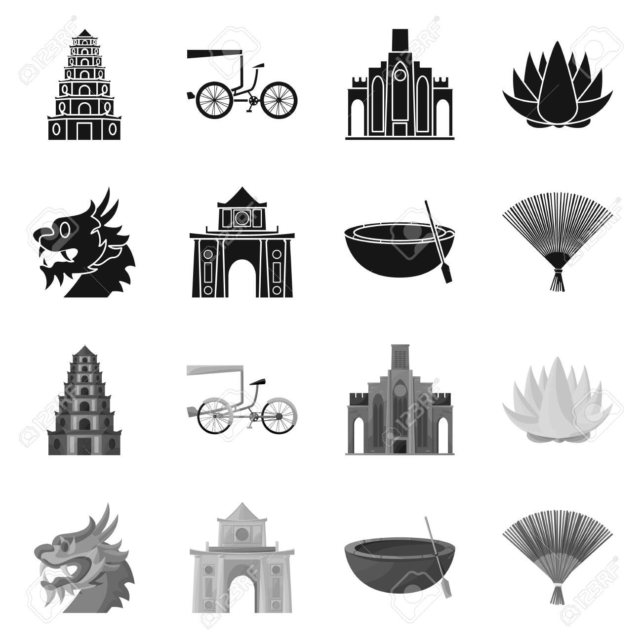 Isolated object of travel and country sign. Set of travel and culture stock symbol for web. , #Sponsored, #country, #sign, #travel, #Isolated, #object