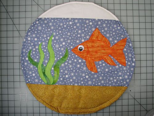 Neat Idea Fish Bowl Cat Quilt To Sew Or Be Sewn