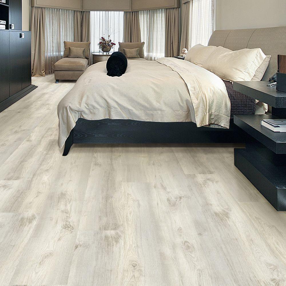 Allure ISOCORE 8.7 in. x 59.4 in. Flamed Oak White Luxury