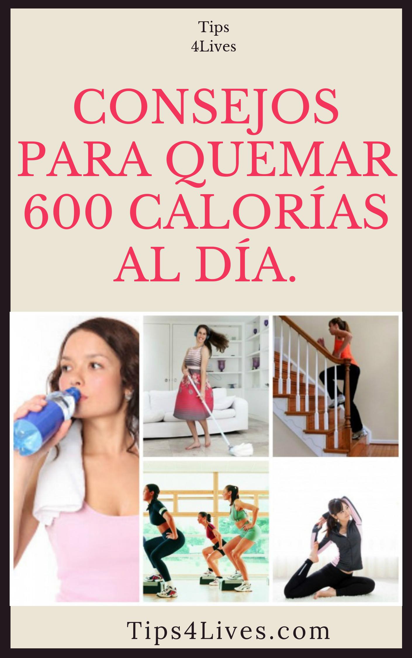 como quemar 600 calorías al día