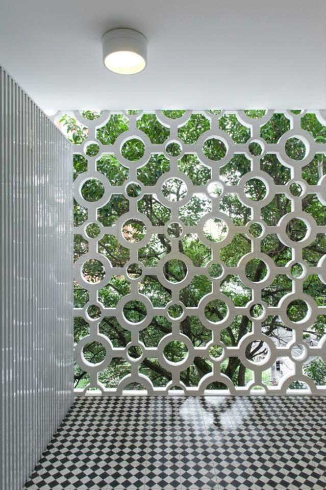 Cobogo Breeze Block Wall Concrete Design Wall Design