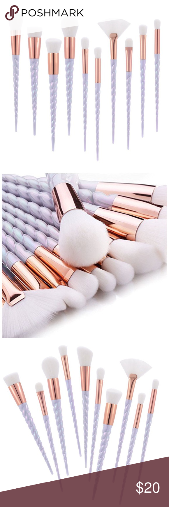 Pearl Unicorn Makeup Brushes Boutique Unicorn makeup