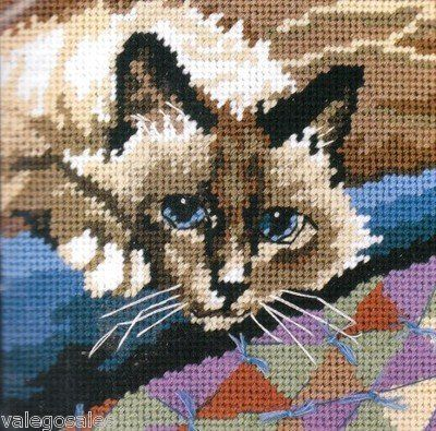Dimensions #needlepoint Cuddly Cat #DIY #crafts #decor #needlework #cats #catlover