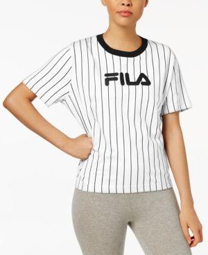 1d8357cc370d FILA LONNIE COTTON PINSTRIPED T-SHIRT.  fila  cloth
