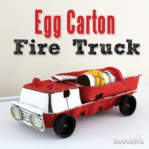 Egg carton fire truck egg cartons fire trucks and craft for Egg carton room