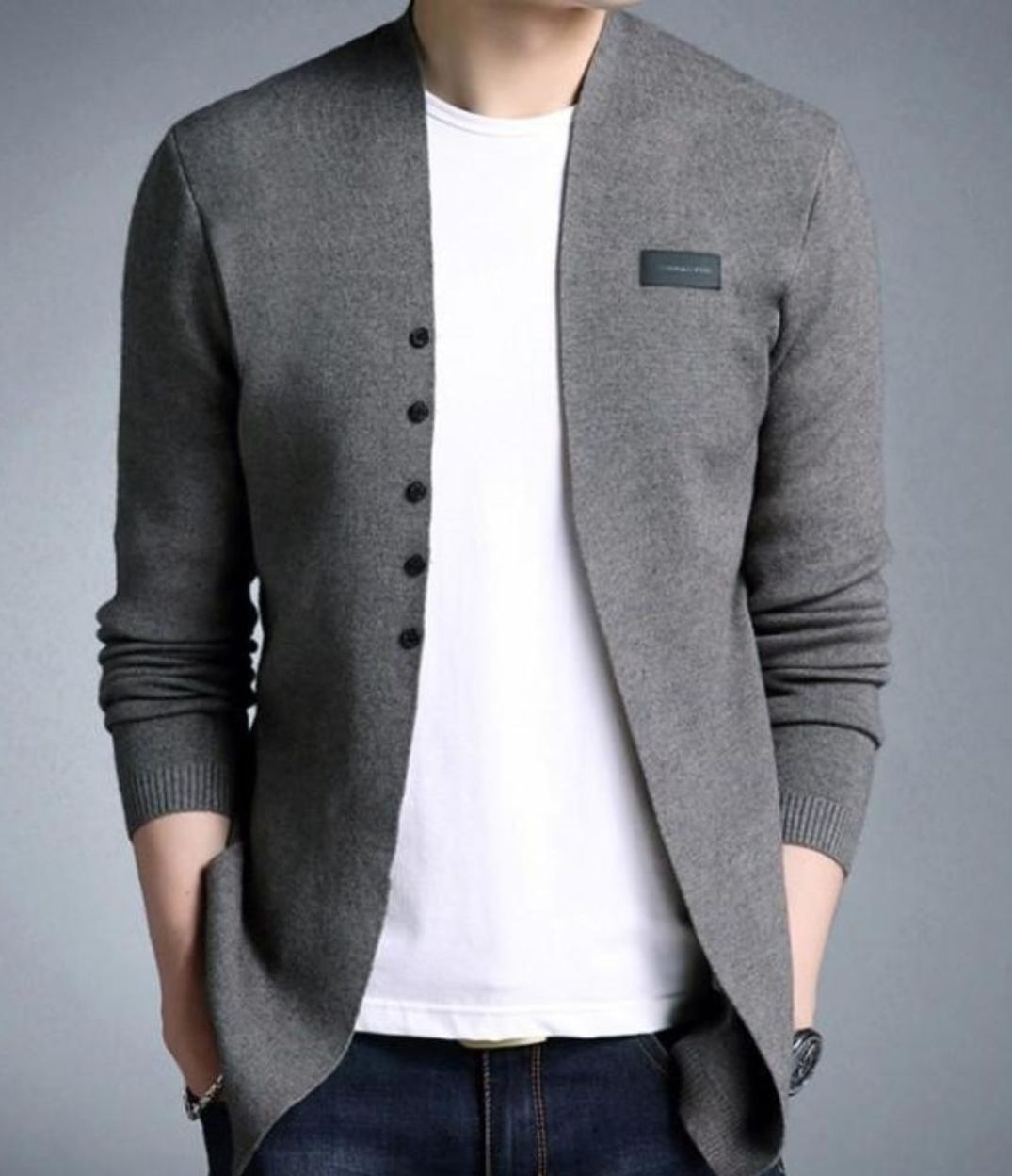Mens Casual Slim Fit Cardigan with Buttons Design | Mens
