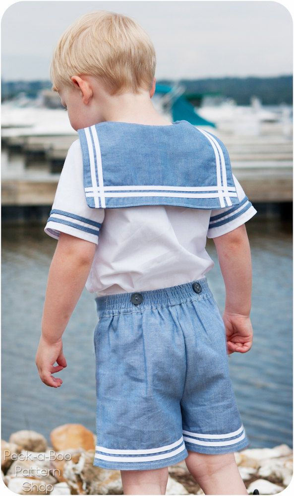 Anchors Aweigh Sailor Romper: Vintage Sailor Romper Sewing Pattern ...
