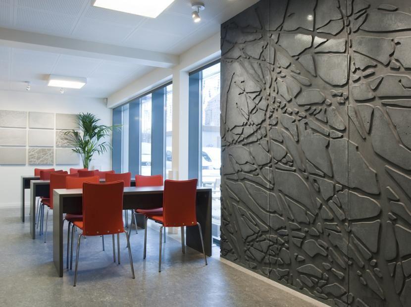 Concrete art love this wall
