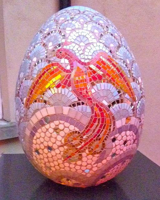 163: Phoenix Egg in 2019 | mosaic, tile & glass | Mythical