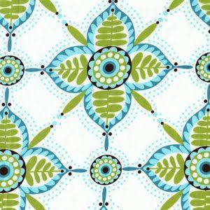 Michael Miller - Large Pretty Petals in Aqua       looks like Mediteranean tile.