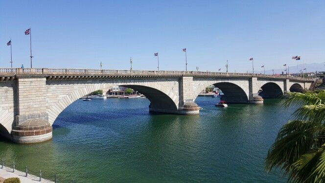 This is the London Bridge that was falling down.