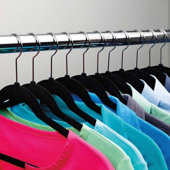 35 Pack Flocked Thin No Slip Hangers Clothes Hanger Velvet