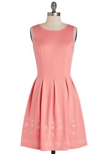 Seaside Sorbet Dress Wedding Bridesmaid Pink Solid