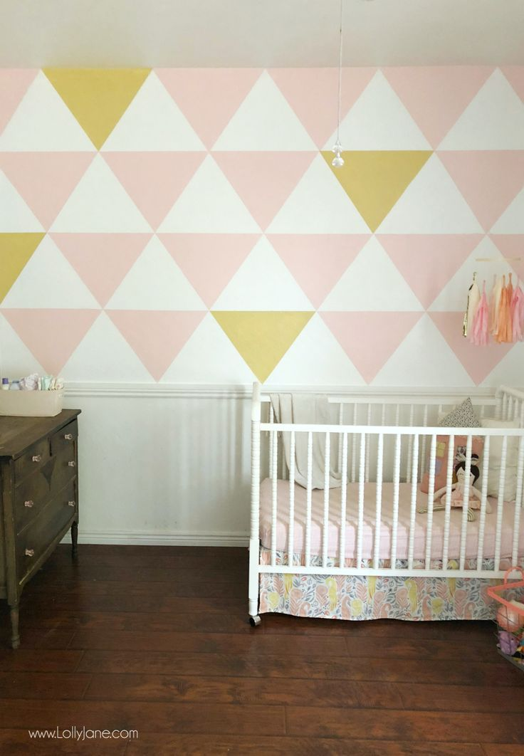 Painted Triangle Accent Wall Tutorial An Easy Wall Of