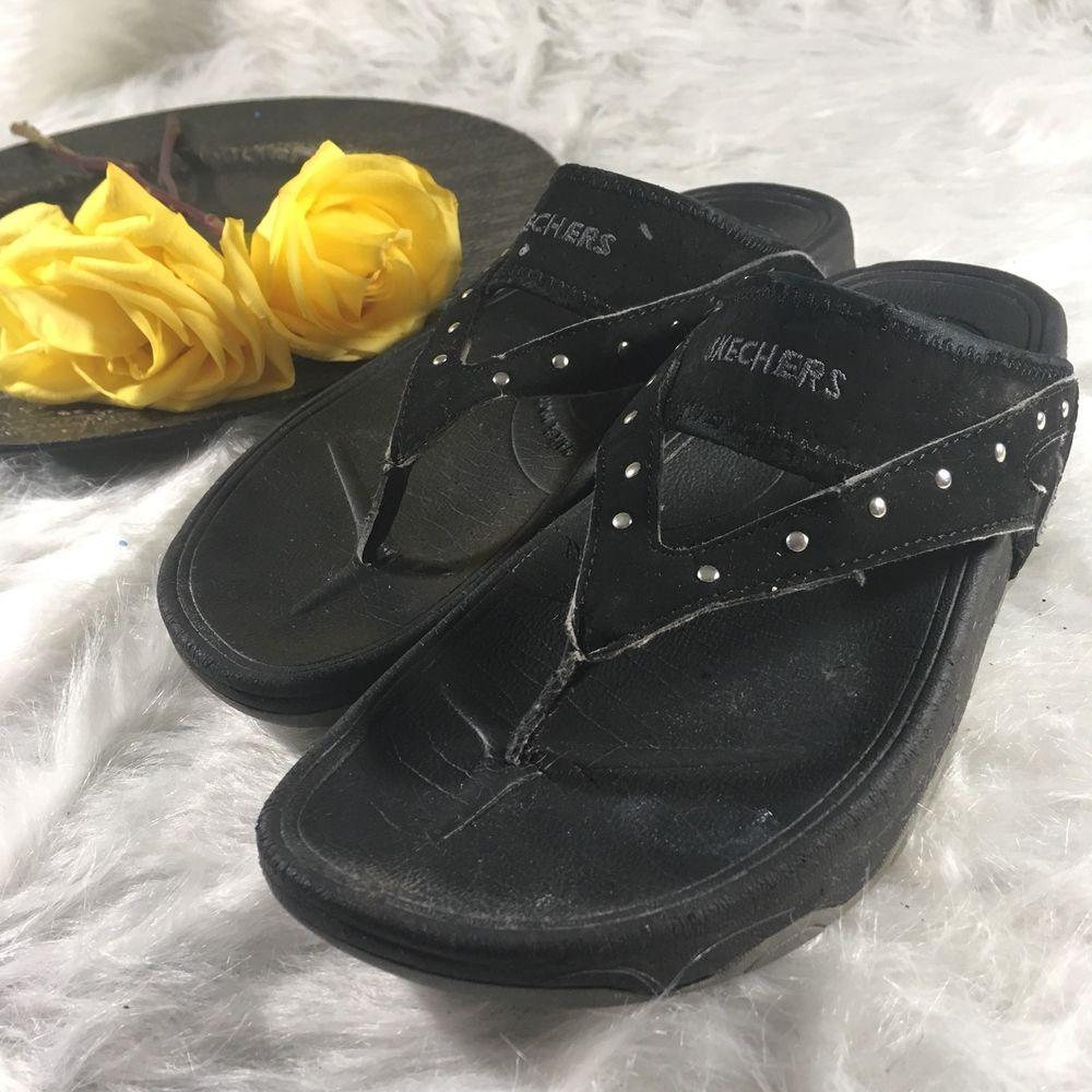 toning flip flops skechers