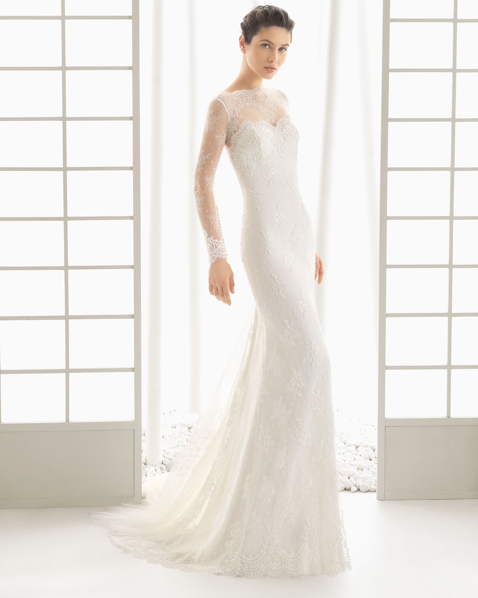 Ecru wedding dress  Dolce  Rosa Clará  Bridal Collection  Rosa clara Wedding