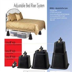 Adjustable Bed Riser System Set Of 4 Bed Risers Adjustable Bed