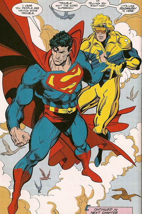 Superman & Booster Gold - Dan Jurgens & Rick Burchett