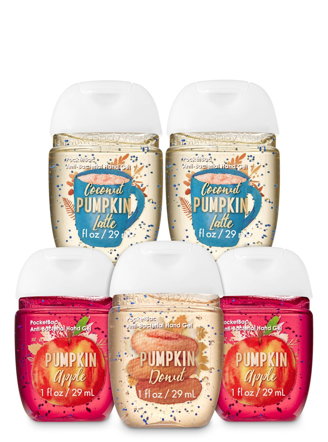 Bath Body Works Pumpkin Treats Pocketbac Hand Sanitizers 5 Pack