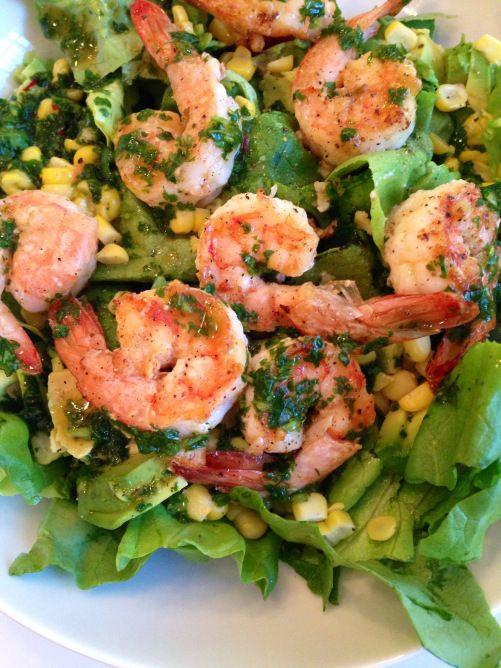 cilantro lime shrimp salad