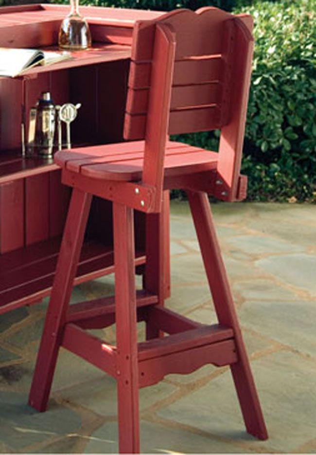 Portland Outdoor Bar Stool With Back Pallet Furniture Outdoor