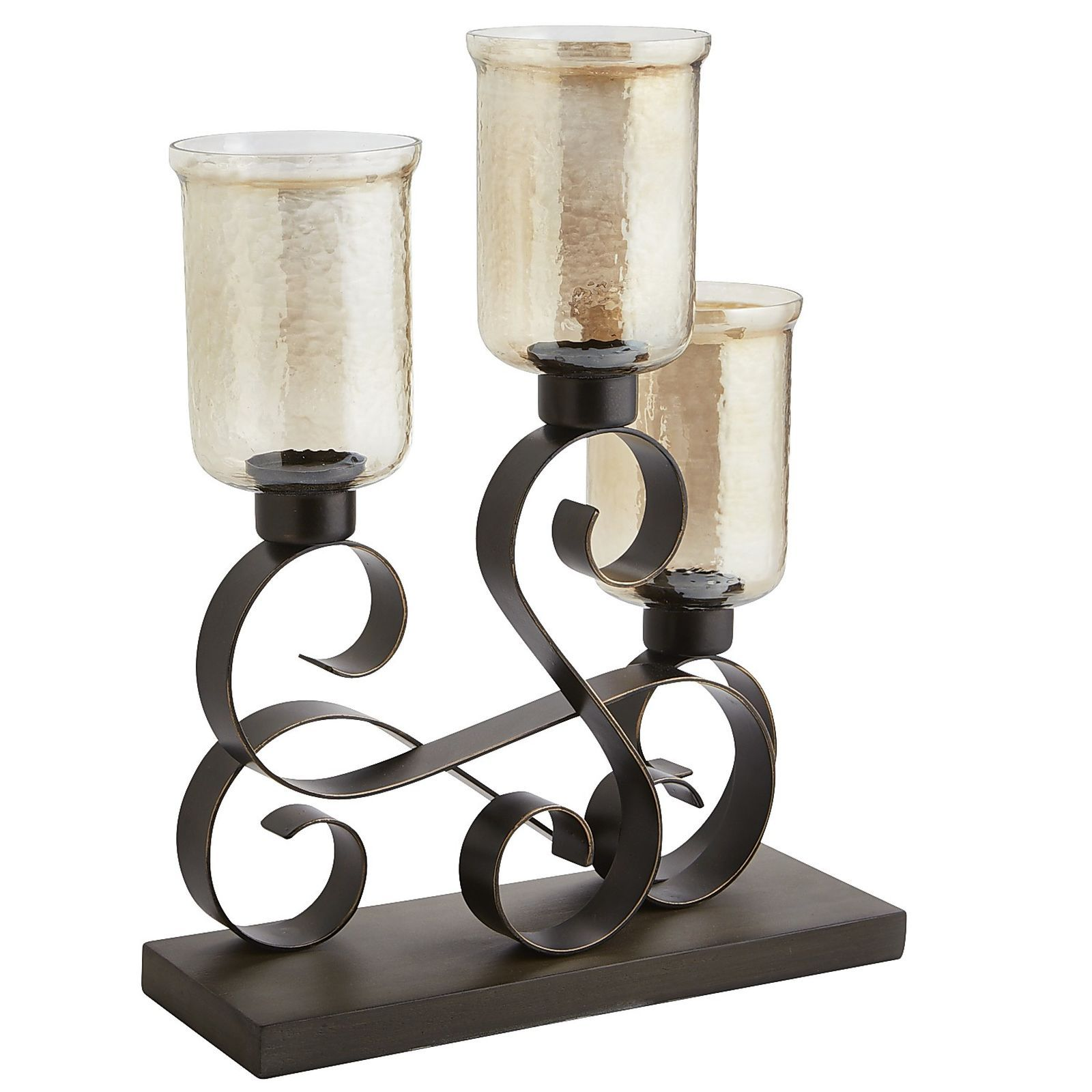 Sundara Scroll Pillar Centerpiece Candle Holders Candleholder Centerpieces Candles