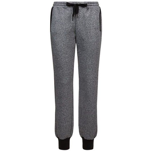 Adidas By Stella McCartney Flecked Tracksuit Bottoms ($81) ❤ liked on Polyvore featuring activewear, activewear pants, adidas activewear, adidas sportswear, adidas and track pants