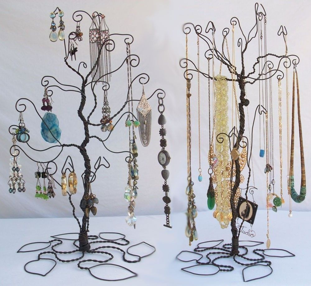 Wire Tree Stand Jewelry Display Holder Set Earring Necklace Pre Order 72 00 Via Etsy