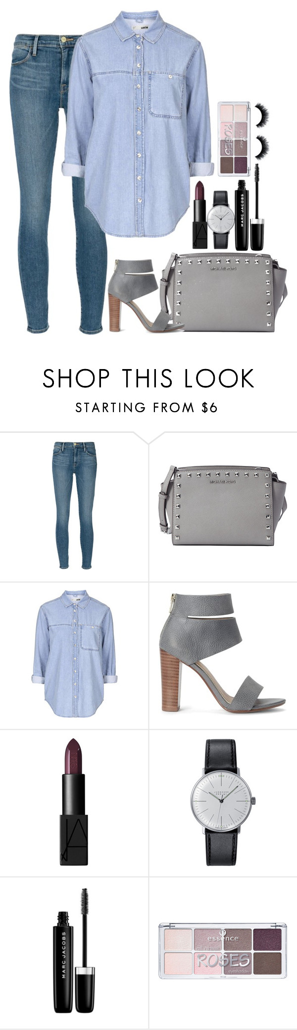 """Sin título #171"" by m0nserrath ❤ liked on Polyvore featuring Frame Denim, MICHAEL Michael Kors, Topshop, Splendid, NARS Cosmetics, Klein & more and Marc Jacobs"