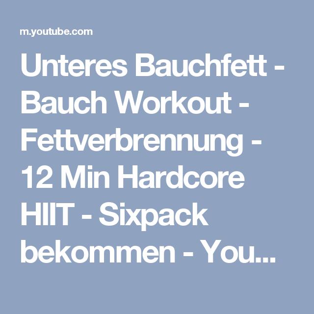 workout zur fettverbrennung